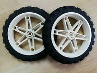 LEGO - PARTS x2 qty Wheel Tire 81.6 x 15 mm D. Motorcycle
