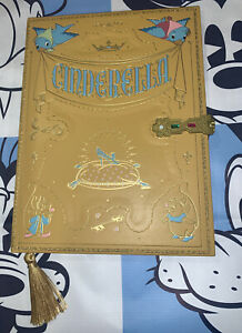 Disney Parks Cinderella Storybook Style Journal Book W/ Decorative Clasp Jewels