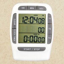 Accurate Multi-channel Digital LCD Timer Count Down Laboratory 3 Channel Clock