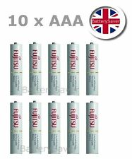 10 x Fujitsu WHITE AAA NiMH LSD rechargeable batteries (Made in Japan)