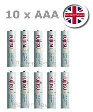 10 x Fujitsu WHITE (AAA) low self discharge NiMH rechargeable batteries (750mAh)