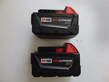 (2) Milwaukee 18V 18 Volt M18 Lithium Ion 48-11-1828 3.0 AH Battery packs New