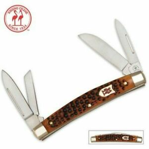 Kissing Crane 4 Blade Folding Congress Autumn Bone Knife FOLDER