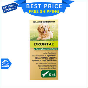 Drontal Allwormer Puppy Worming Suspension 30 mL Pack FREE AU SHIPPING