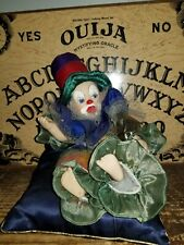 """10"""" Long  Clown  Doll Tangible doll, spooky Metaphysical Paranormal haunt"""
