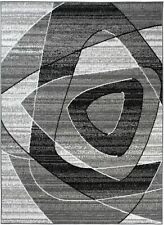 Area Rug Grey Modern Living Room Style Floor Carpet Small Large Sizes Low Pile