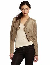 BCBG MAX AZRIA Norton Contrast Back Draped Jacket Khaki SIZE L LARGE EXCELLENT