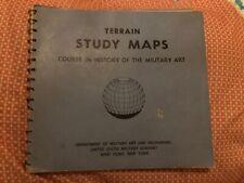 1960S USMA MILITARY ACADEMY WEST POINT TERRAIN STUDY MAPS BOOK COURSE COLOR