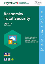 KASPERSKY Total Security 2017 1 Device 12 Monate ESD