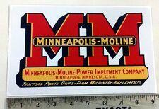 Vintage Minneapolis Moline Redblack Sticker 9x55