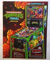 Teenage Mutant Ninja Turtles Limited Edition Pinball FLYER Art Game Sheet TNMT