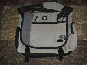 """SwissGear Zinc Cotton Canvas 14.1"""" Laptop Messenger Bag - Green/Olive"""