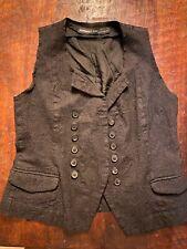Rundholz Designer Vest Womens Size Medium Black/Grey Virgin Wool Mint Condition