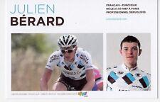 CYCLISME carte cycliste JULIEN BERARD équipe AG2R prévoyance 2011
