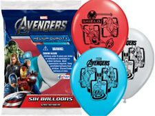 "6 Pack  12"" Avengers Super Heroes latex balloons Qulatex"