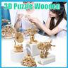 Jouet Découpé Au Laser En Bois 3D Puzzle Modèles DIY Artisanat Kits Cadeau