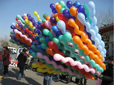 2016 10pc Twist Spiral Latex Balloons Wedding Kids Birthday Party Decor Toy ACEC