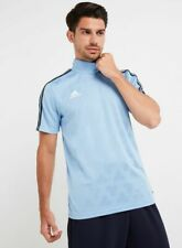 Adidas para hombre CZ3991 Tango Jacquard Jersey Camiseta ceniza Azul L