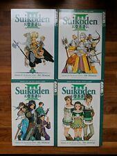 Genso Suikoden III 3 Manga Books - Aki Shimizu - Volumes 1-4 - ENGLISH LANGUAGE