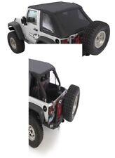 2007-18 soft top Jeep Wrangler JK 2 door BLACK TINTED Bowless Combo top 9073235