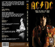 AC/DC - SURE THE ONES YOU NEED / MORE LIVE 1974 - 1980 - BOX-SET 4CD N°23/300