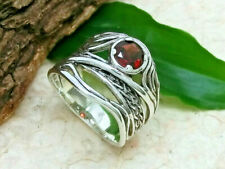 Damenring Zirkonia rot 925 Sterling Silber Gr. 62 Stein Damen