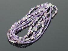 """Six Strand Natural Amethyst Bead Necklace 105.2g, 17"""", 3mm"""