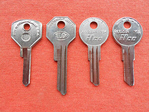 4 STUDEBAKER KEY BLANKS 1940 - 1963