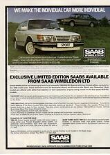 VINTAGE 1984's Saab Showroom Wibledon Car Advert, ORIGINAL, A4 AD