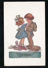 WW1 patriotic Khaki Kiddies children soldier GOODBYE Davis series #514