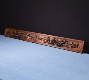 *French Antique Carved Architectural Drawer Fronts/Panels in Solid Oak Wood