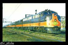 City of New Orleans Illinois Central E9 passenger loco train railroad postcard