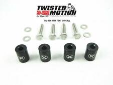 "TWISTED MOTION HOOD SPACERS SR20DET S13 S14 240SX ""BLACK"""