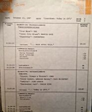 RADIO SHOW: 10/21/87 TODAY IN '71 YES, JOAN BAEZ, CHER, CAROLE KING, JOHN LENNON