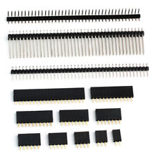 "Pin or Female Header Edge Pins Strip 0.1"" 2.54mm for Breadboard PCB for Dupont"