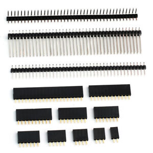 """Pin or Female Header Edge Pins Strip 0.1"""" 2.54mm for Breadboard PCB for Dupont"""