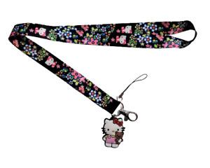 Hello Kitty Lanyard Stainless Steel Key Ring Handmade Cell Phone Lanyard