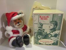 Vint 1992 RAIKES BEARS Santabear - Santa Claus bear new in box with certificate