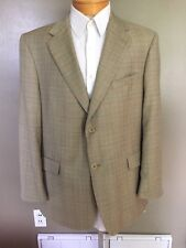 Loro Piana Italy 44s Daniel Cremieux Collection Sports coat Blazer Khaki Plaid B