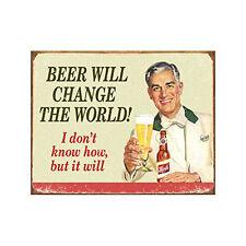 Funny Beer Sign Retro Vintage Bar Tin Wall Art Pub Garage Man Cave Dorm Room New