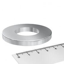 5x POWER NEODYM RING MAGNET, 60x6 mm MIT 30 mm BOHRUNG, GRADE N45, VERNICKELT
