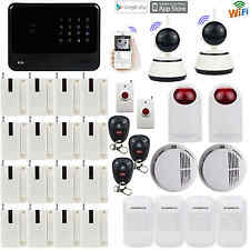 Q17 2.4G WiFi Network GSM GPRS SMS OLED Home Alarm System Security+2 IP Camera