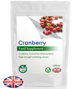 Cranberry Extract 12000mg (30/60/90/120/180 Tablets) Cystitis, Bladder, UK (V)