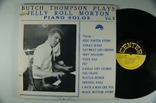 BUTCH THOMPSON play JELLY ROLL MORTON Piano Solos Vol. 2 JAZZ LP CENTER DG M-