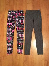 ATHLETA Womens Workout Running Leggins Lot Of Two Brown Black Multicolor Size XS