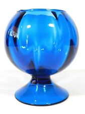 Blenko Blue Glass Aquarium Fish Bowl Vase