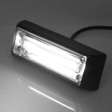 """White 4"""" 10W COB LED SIG Hazard Warning Strobe Emergency Roof Light Bar"""