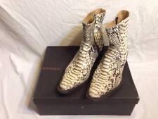 Stivale di pitone bianco Buttero vintage usato numero 42,5 - boot  white python