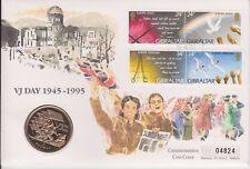 Gibraltar PNC £ 5 moneda Cubierta 50TH Aniversario VJ Dia 1995 B/UNC cinco libras 04824
