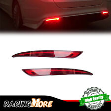 2x For 13~18 Ford Fusion Mondeo LED Rear Bumper Reflector Brake Tail Light Lamps